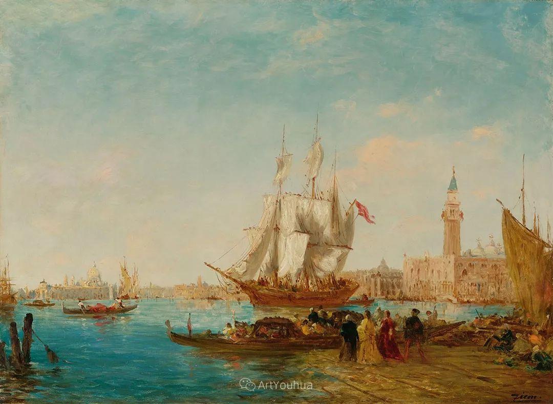 海中的城,气势恢宏——法国画家Felix Ziem插图10