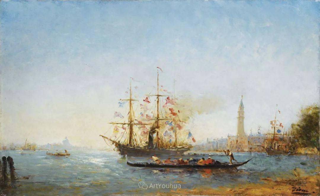 海中的城,气势恢宏——法国画家Felix Ziem插图14