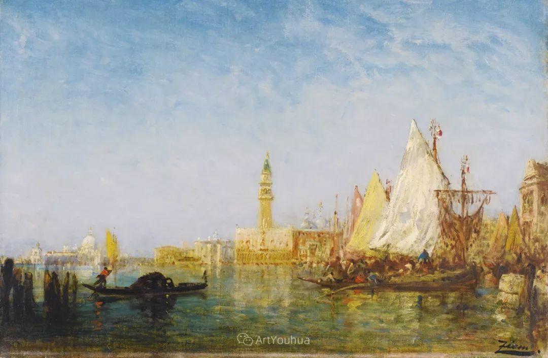 海中的城,气势恢宏——法国画家Felix Ziem插图16