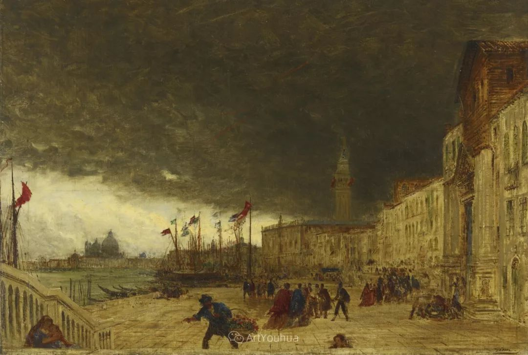 海中的城,气势恢宏——法国画家Felix Ziem插图18
