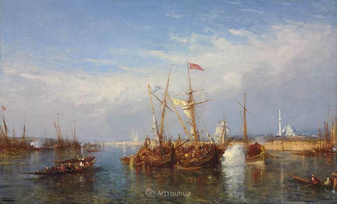 海中的城,气势恢宏——法国画家Felix Ziem插图32