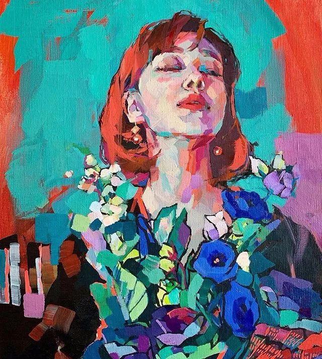 惊艳的马赛克画风,她将女人的柔美与绚烂,表现的淋漓尽致插图