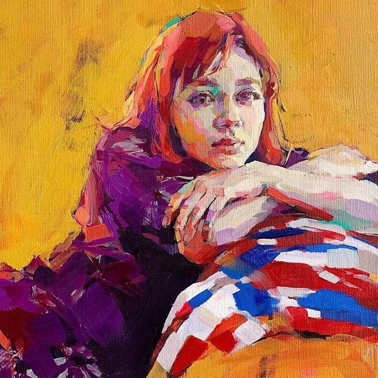 惊艳的马赛克画风,她将女人的柔美与绚烂,表现的淋漓尽致插图1