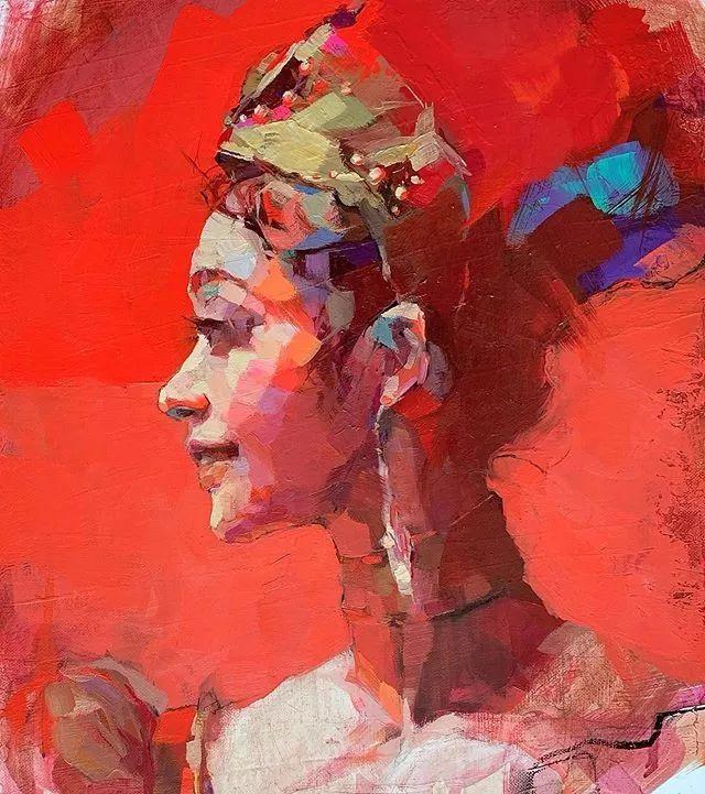 惊艳的马赛克画风,她将女人的柔美与绚烂,表现的淋漓尽致插图4