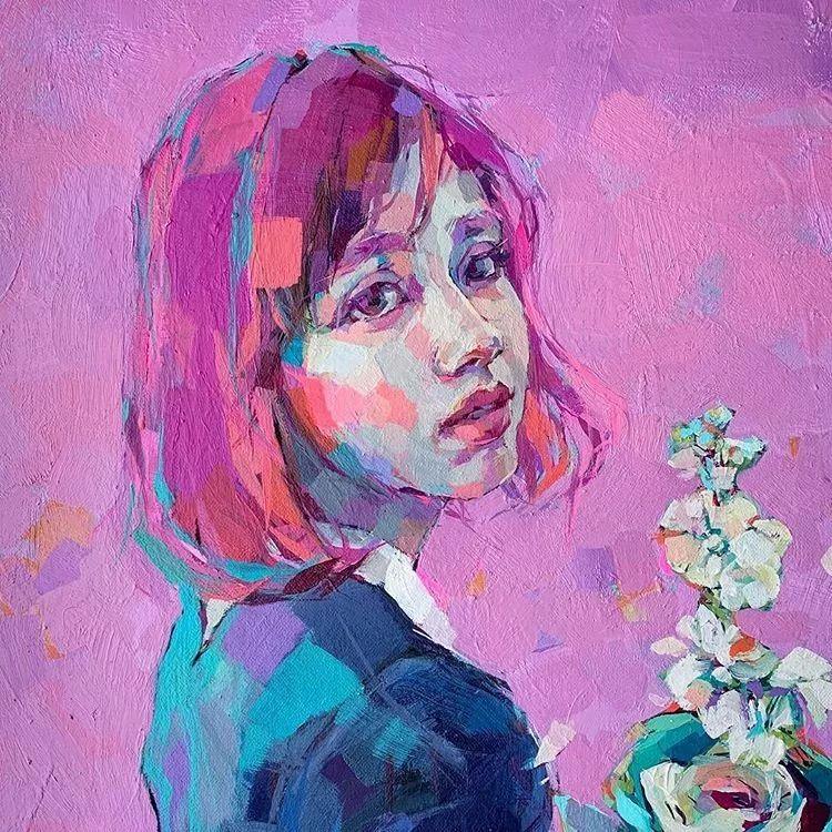惊艳的马赛克画风,她将女人的柔美与绚烂,表现的淋漓尽致插图5