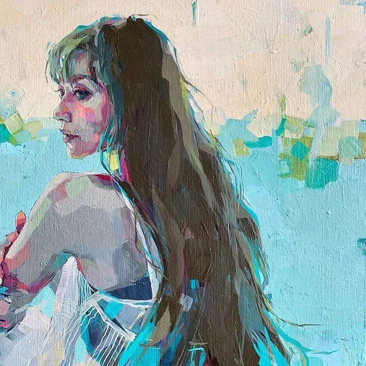 惊艳的马赛克画风,她将女人的柔美与绚烂,表现的淋漓尽致插图6