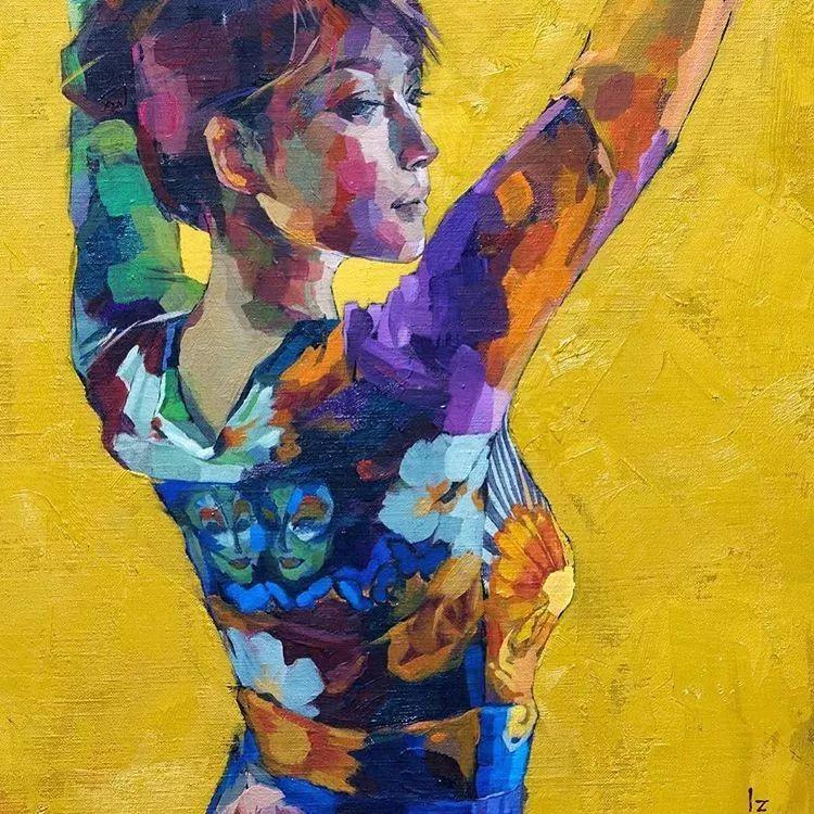 惊艳的马赛克画风,她将女人的柔美与绚烂,表现的淋漓尽致插图7