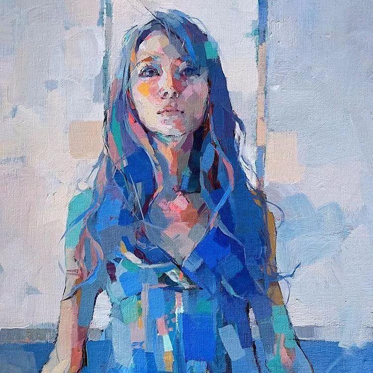 惊艳的马赛克画风,她将女人的柔美与绚烂,表现的淋漓尽致插图8