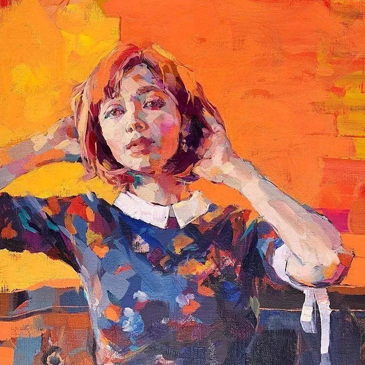 惊艳的马赛克画风,她将女人的柔美与绚烂,表现的淋漓尽致插图9