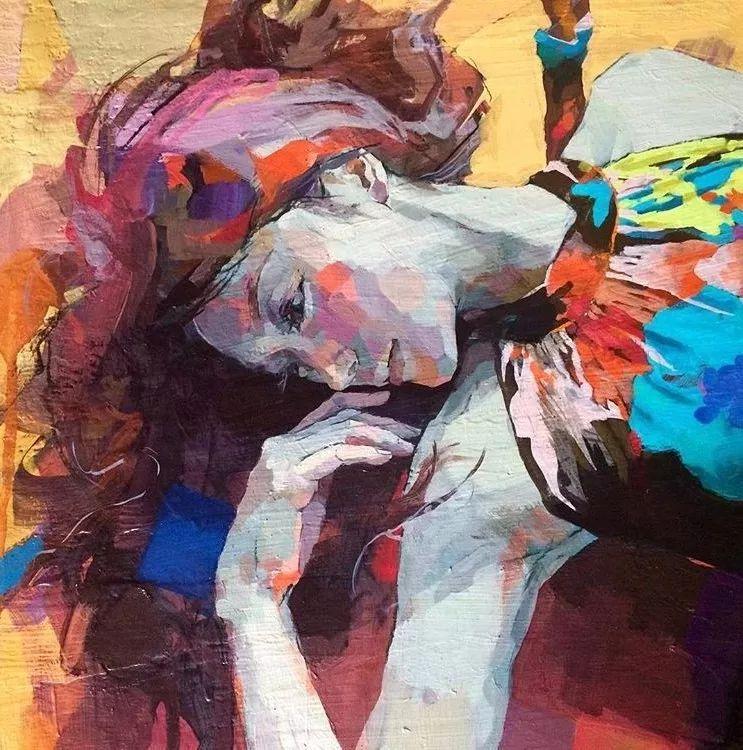 惊艳的马赛克画风,她将女人的柔美与绚烂,表现的淋漓尽致插图10