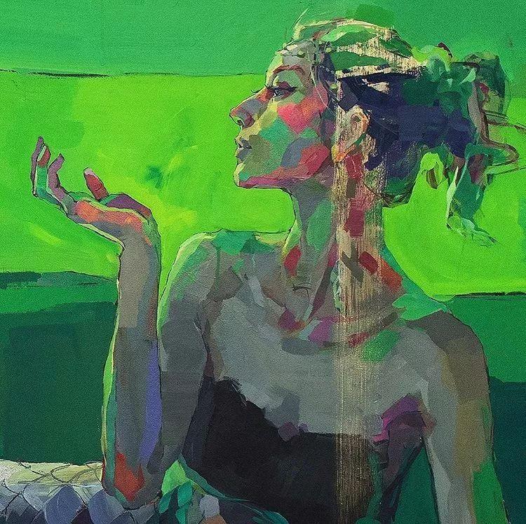 惊艳的马赛克画风,她将女人的柔美与绚烂,表现的淋漓尽致插图12