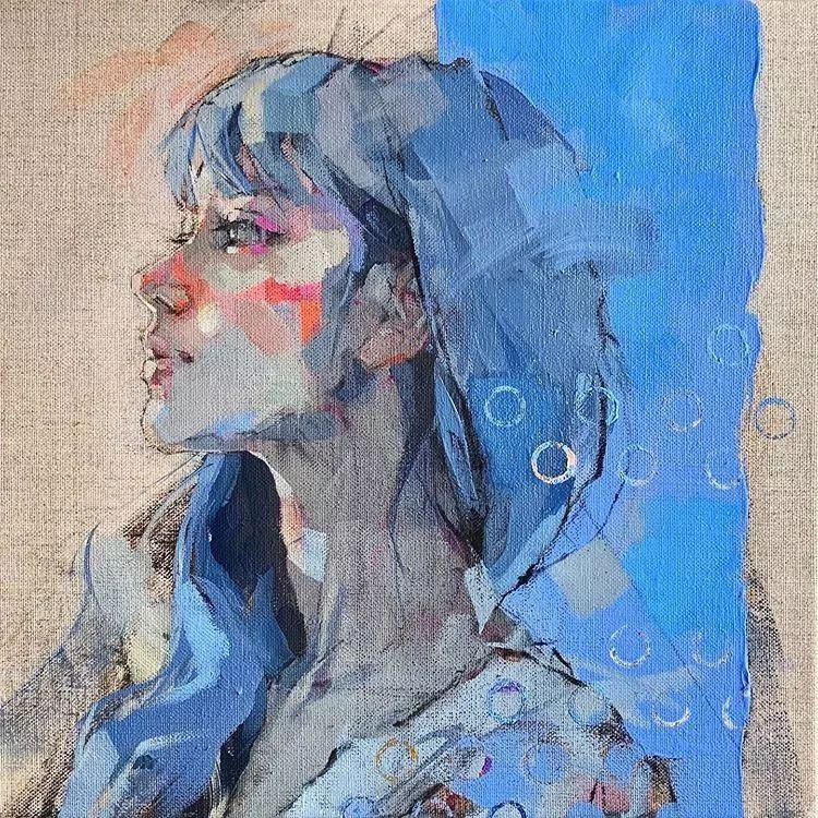 惊艳的马赛克画风,她将女人的柔美与绚烂,表现的淋漓尽致插图19