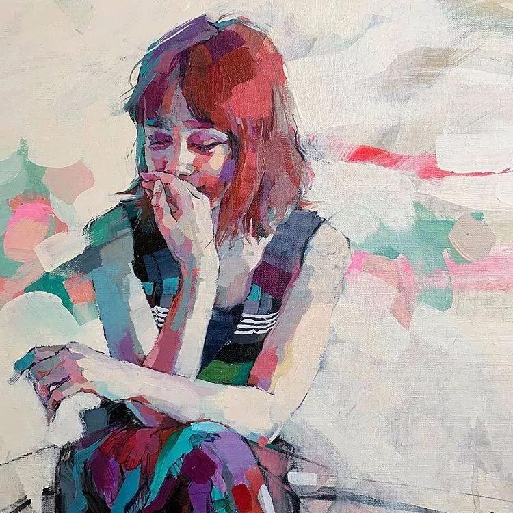 惊艳的马赛克画风,她将女人的柔美与绚烂,表现的淋漓尽致插图20