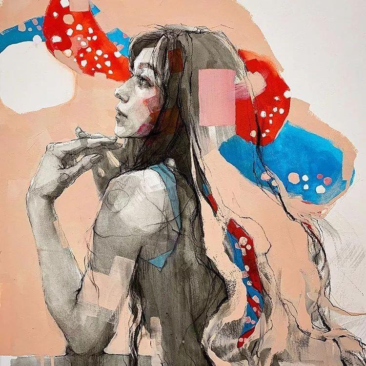 惊艳的马赛克画风,她将女人的柔美与绚烂,表现的淋漓尽致插图21