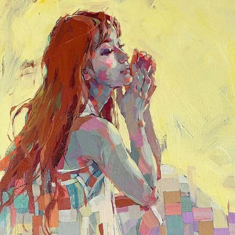 惊艳的马赛克画风,她将女人的柔美与绚烂,表现的淋漓尽致插图23