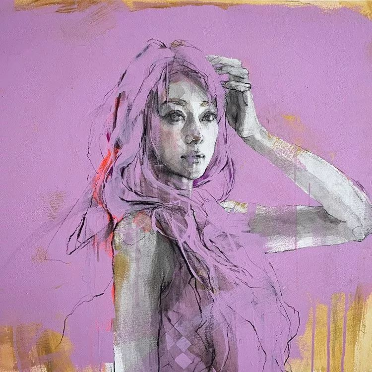 惊艳的马赛克画风,她将女人的柔美与绚烂,表现的淋漓尽致插图24