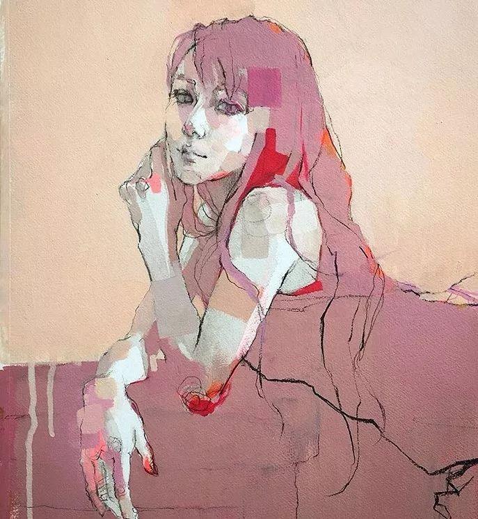惊艳的马赛克画风,她将女人的柔美与绚烂,表现的淋漓尽致插图26