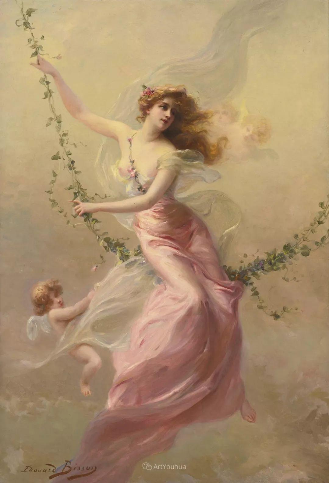 法国画家油画中的仙女,身披薄纱,性感迷人!插图1