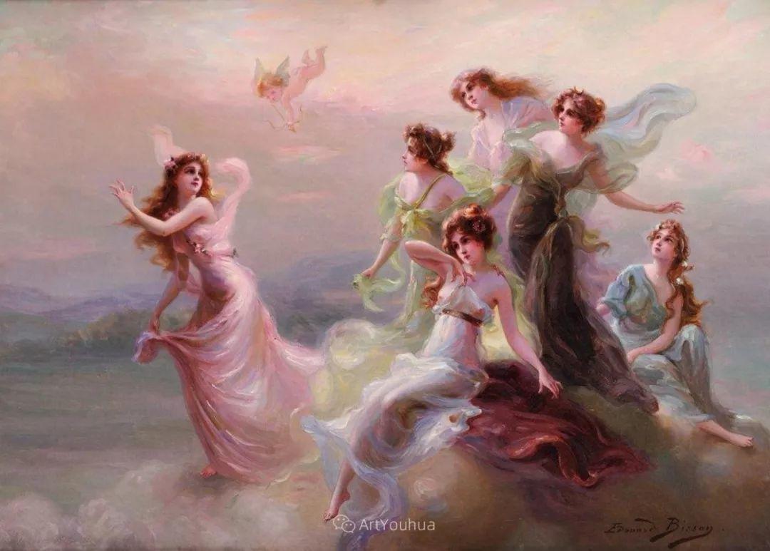 法国画家油画中的仙女,身披薄纱,性感迷人!插图2