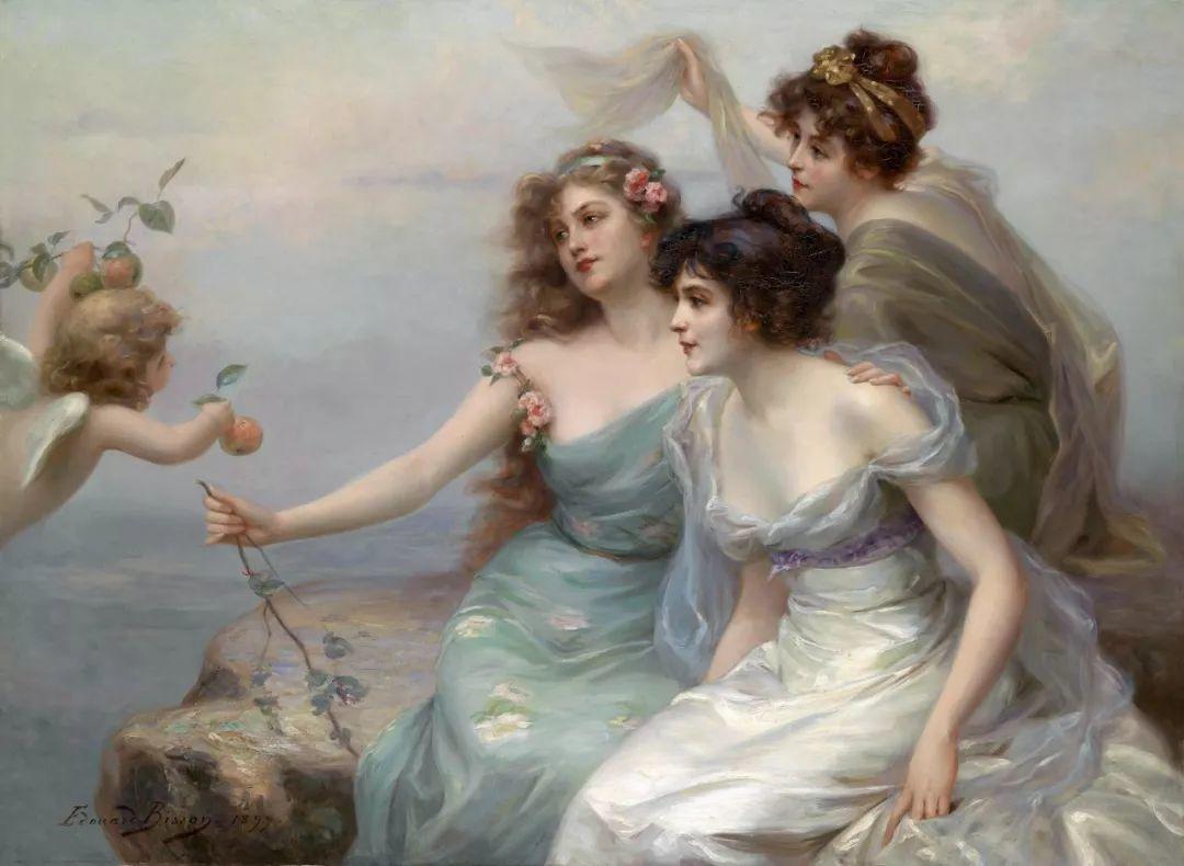 法国画家油画中的仙女,身披薄纱,性感迷人!插图3