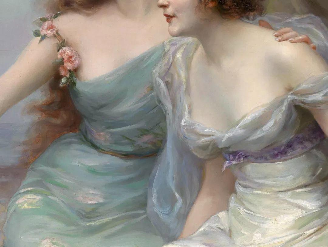 法国画家油画中的仙女,身披薄纱,性感迷人!插图4