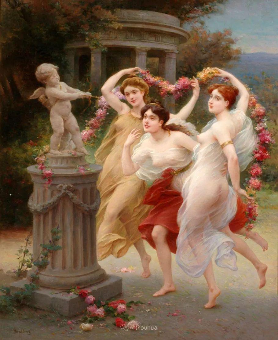 法国画家油画中的仙女,身披薄纱,性感迷人!插图8