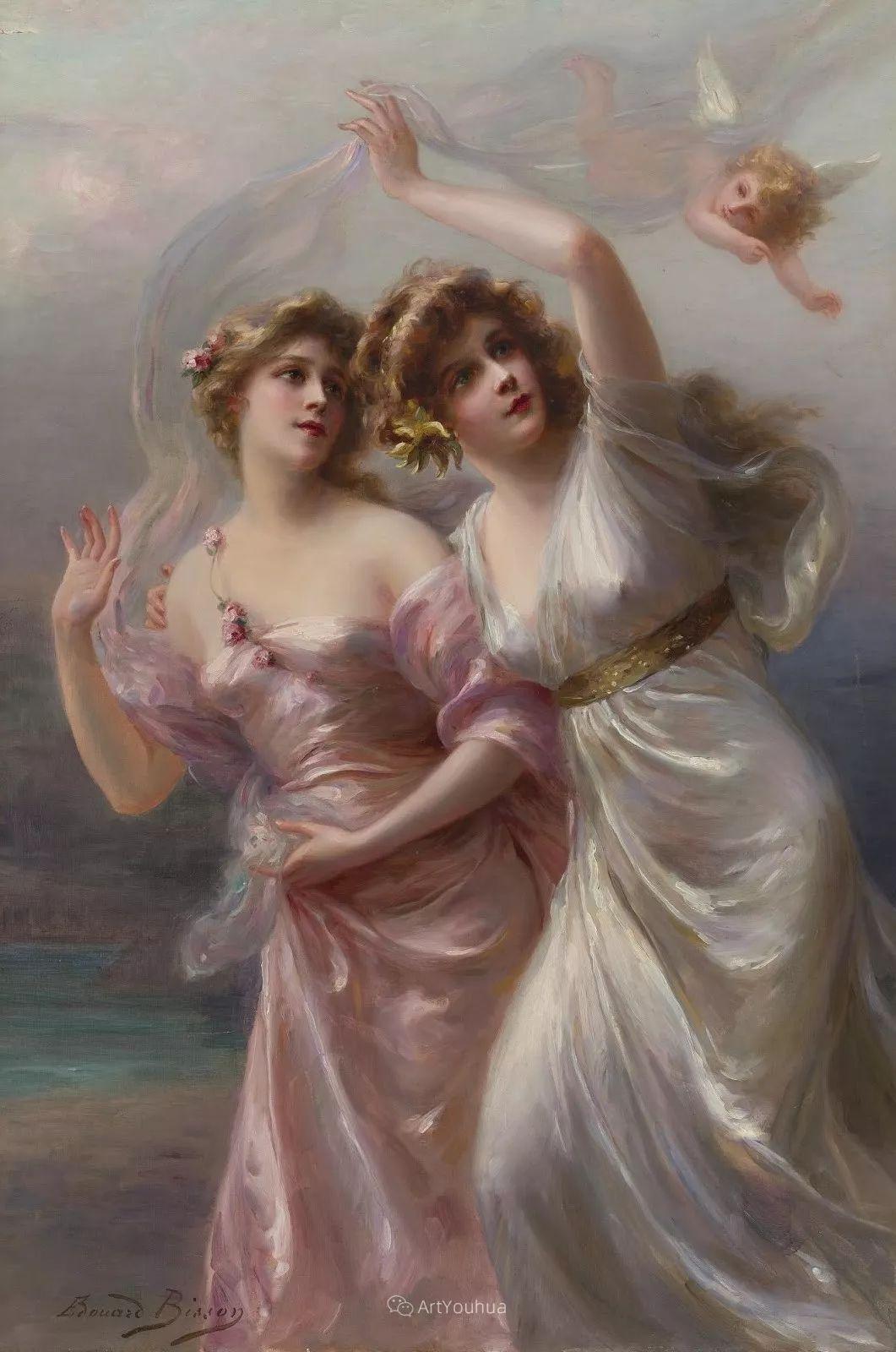 法国画家油画中的仙女,身披薄纱,性感迷人!插图9