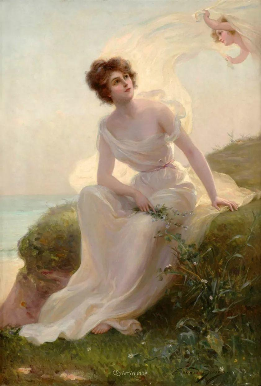 法国画家油画中的仙女,身披薄纱,性感迷人!插图10