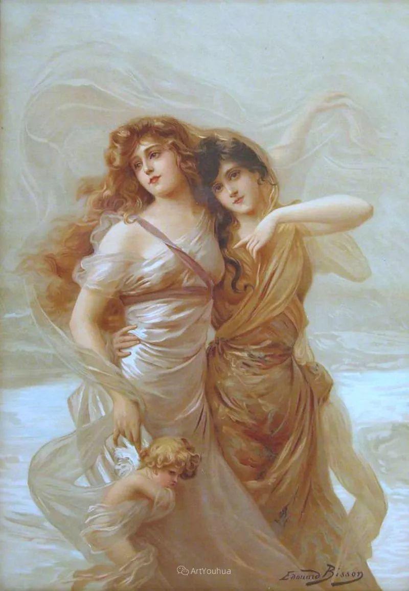 法国画家油画中的仙女,身披薄纱,性感迷人!插图11