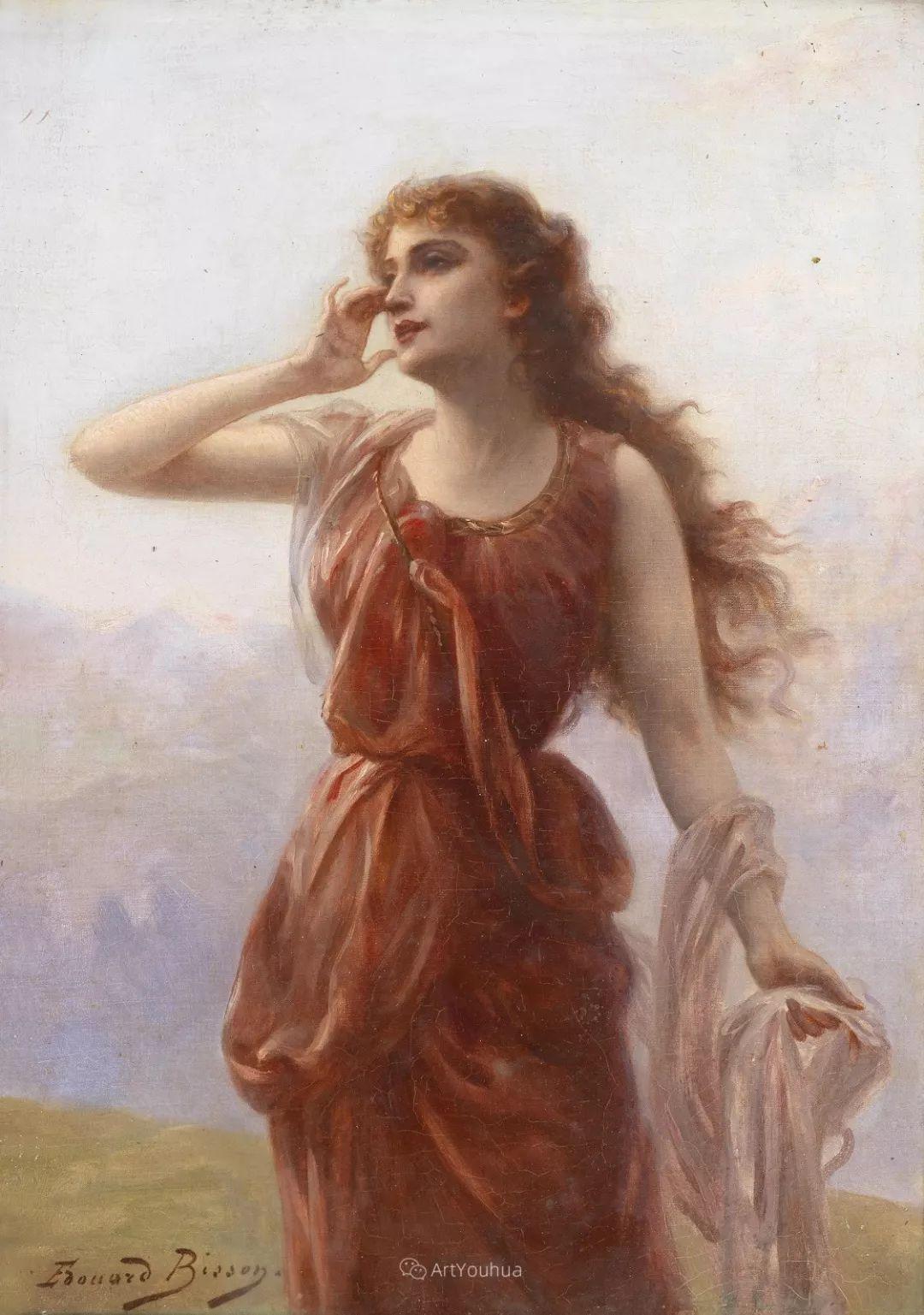 法国画家油画中的仙女,身披薄纱,性感迷人!插图15