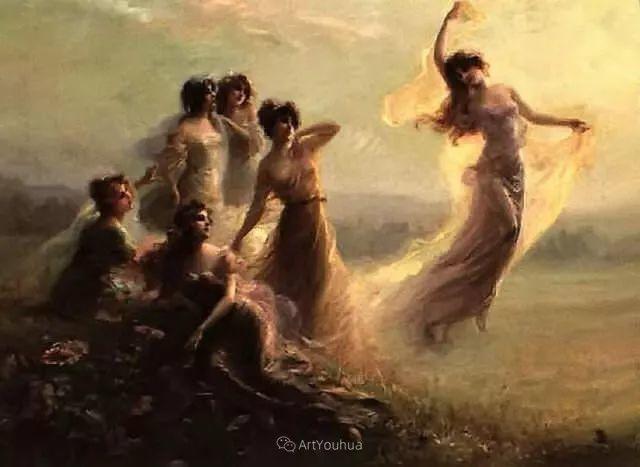 法国画家油画中的仙女,身披薄纱,性感迷人!插图17