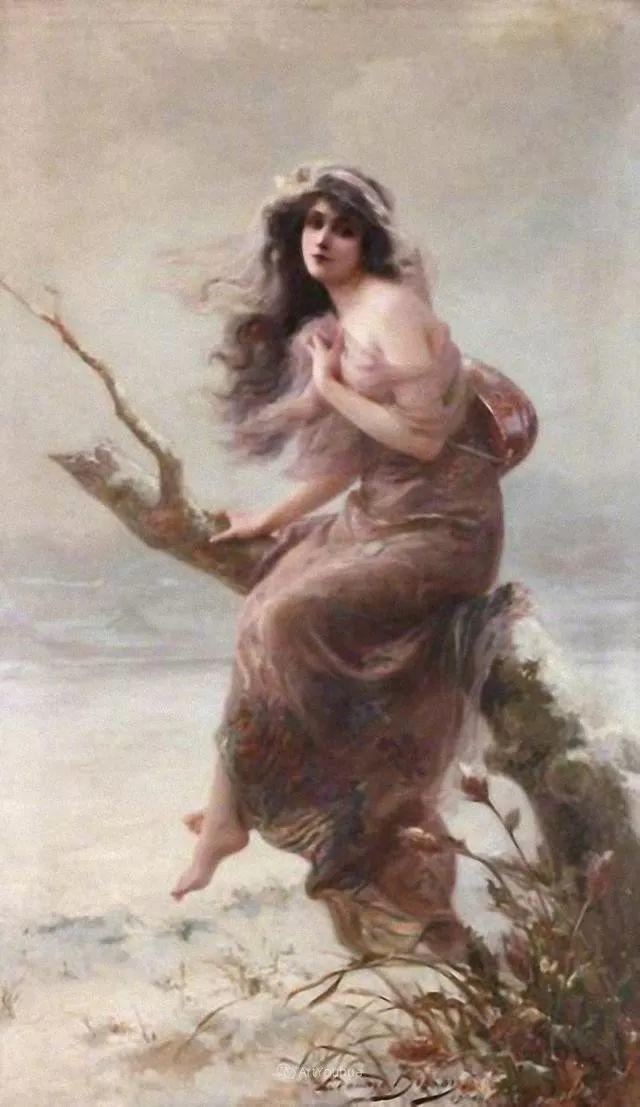 法国画家油画中的仙女,身披薄纱,性感迷人!插图18