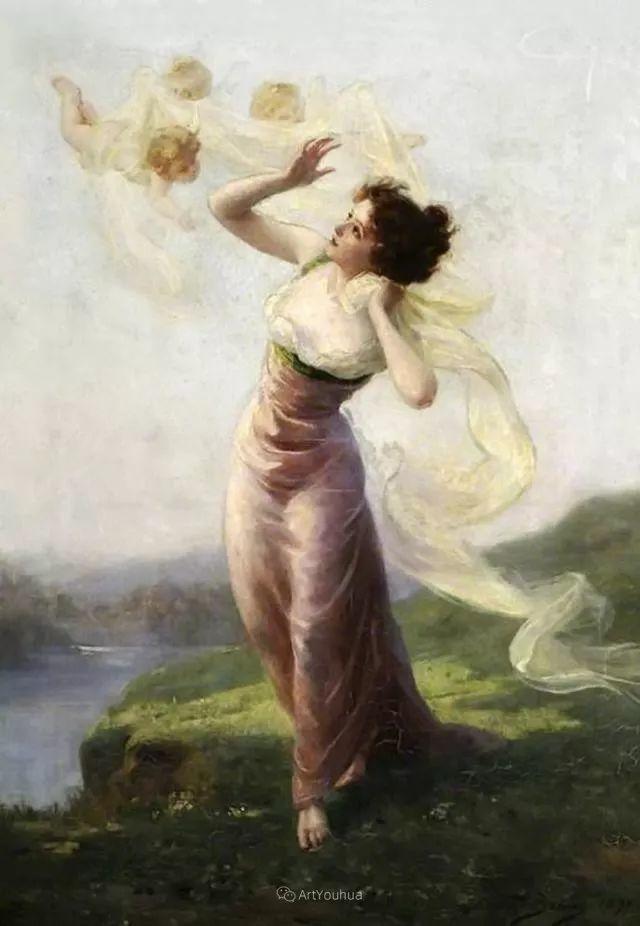法国画家油画中的仙女,身披薄纱,性感迷人!插图20