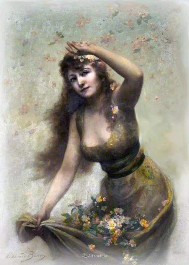 法国画家油画中的仙女,身披薄纱,性感迷人!插图21