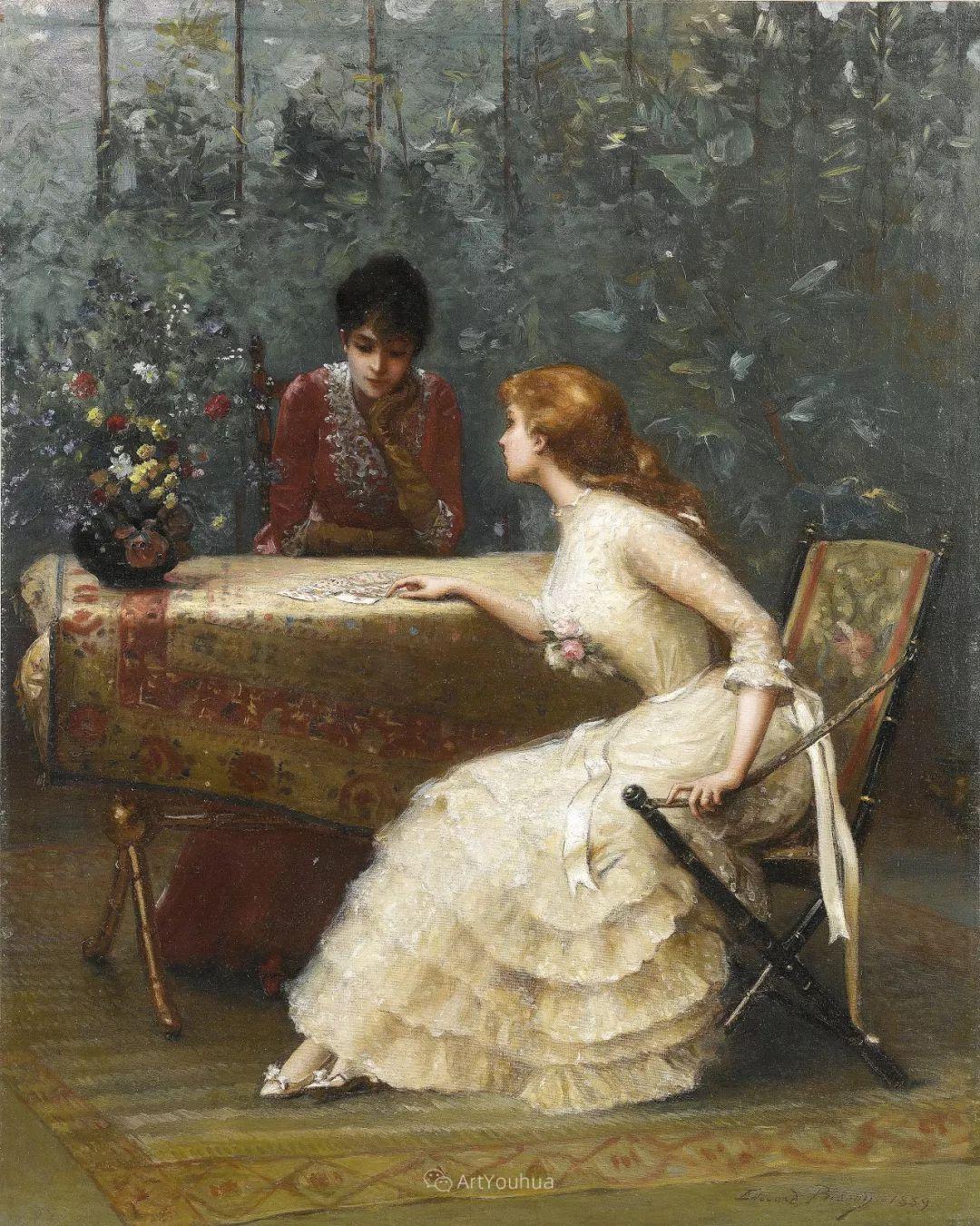 法国画家油画中的仙女,身披薄纱,性感迷人!插图22
