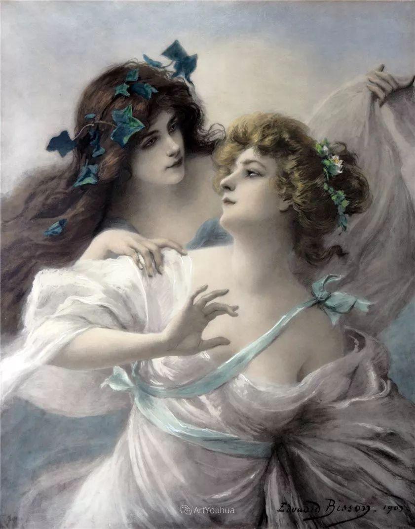 法国画家油画中的仙女,身披薄纱,性感迷人!插图23