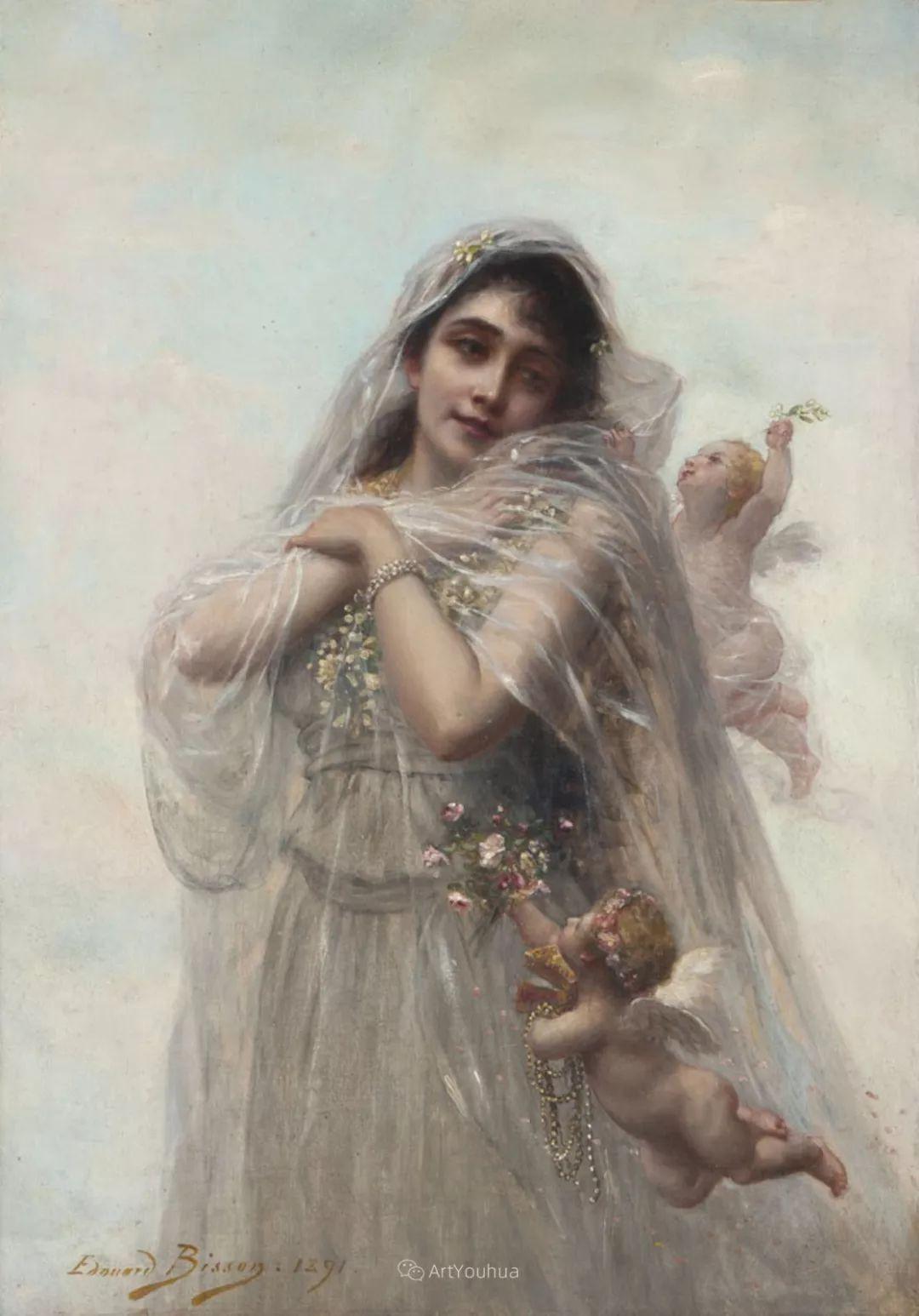 法国画家油画中的仙女,身披薄纱,性感迷人!插图24