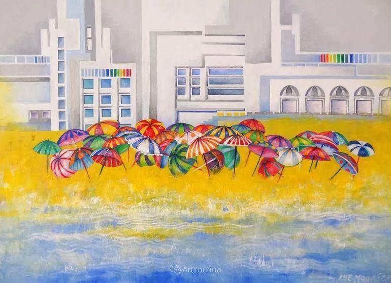 德国女画家IneLouise的炫彩风景画,太美了插图12