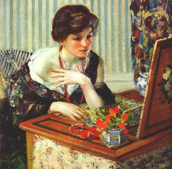 在法国呆了十五年,没有卖出一幅画的美国画家Richard Emil Miller插图