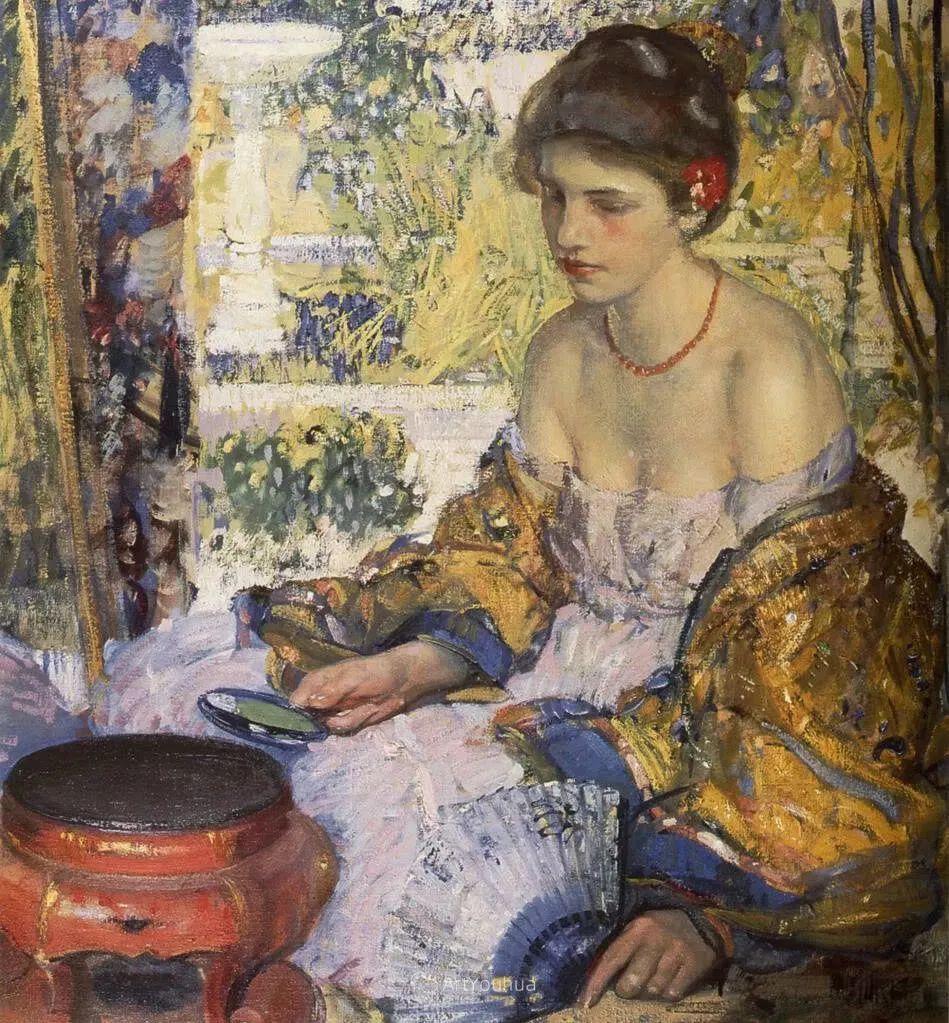 在法国呆了十五年,没有卖出一幅画的美国画家Richard Emil Miller插图2