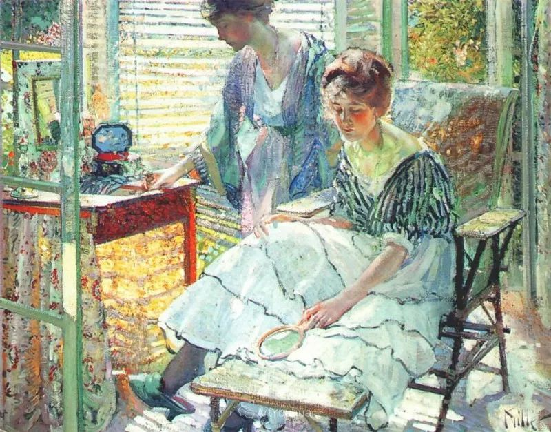 在法国呆了十五年,没有卖出一幅画的美国画家Richard Emil Miller插图3