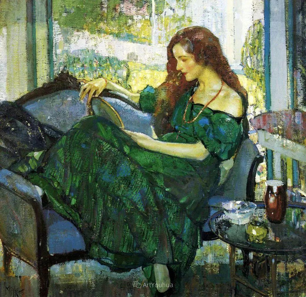 在法国呆了十五年,没有卖出一幅画的美国画家Richard Emil Miller插图4