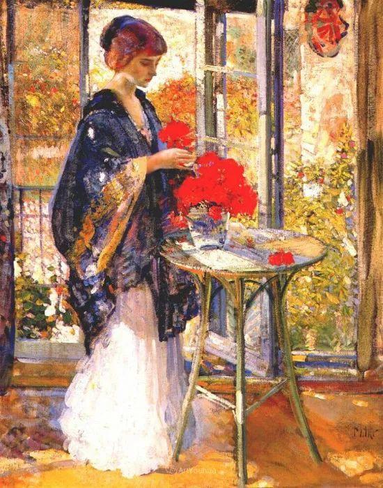在法国呆了十五年,没有卖出一幅画的美国画家Richard Emil Miller插图5