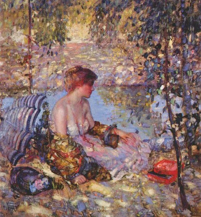 在法国呆了十五年,没有卖出一幅画的美国画家Richard Emil Miller插图6