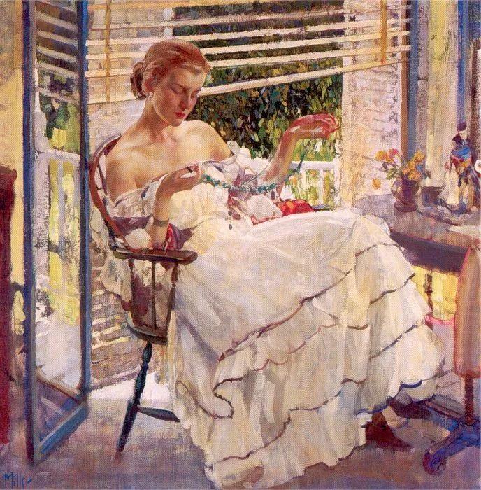 在法国呆了十五年,没有卖出一幅画的美国画家Richard Emil Miller插图9