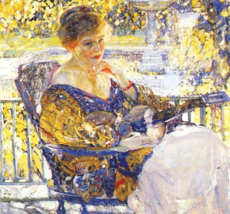 在法国呆了十五年,没有卖出一幅画的美国画家Richard Emil Miller插图13