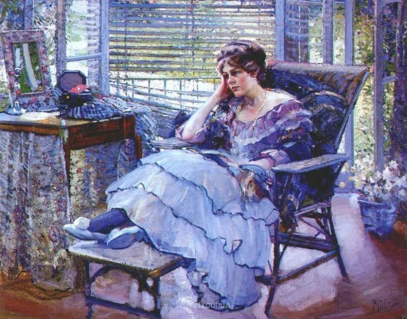 在法国呆了十五年,没有卖出一幅画的美国画家Richard Emil Miller插图18
