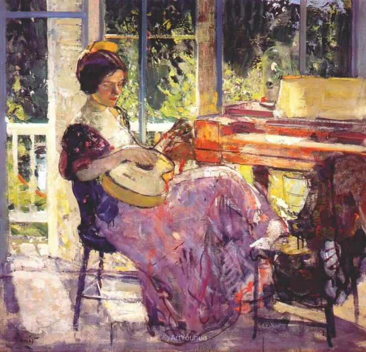 在法国呆了十五年,没有卖出一幅画的美国画家Richard Emil Miller插图20