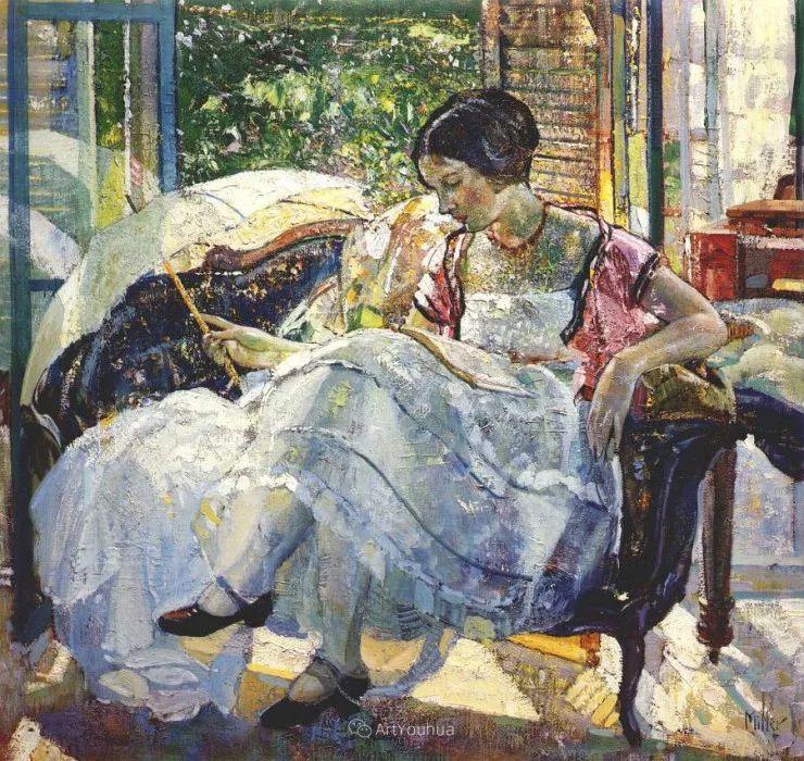 在法国呆了十五年,没有卖出一幅画的美国画家Richard Emil Miller插图22
