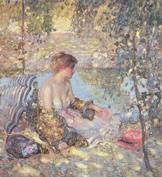 在法国呆了十五年,没有卖出一幅画的美国画家Richard Emil Miller插图23